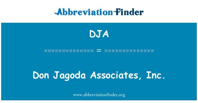 DJA: Don Jagoda Associates, Inc.