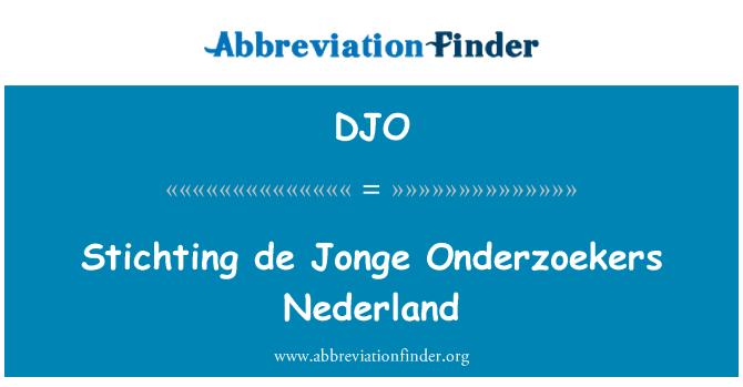 DJO: Stichting de Jonge Onderzoekers Nederland