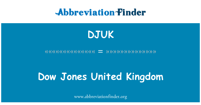 DJUK: Dow Jones United Kingdom