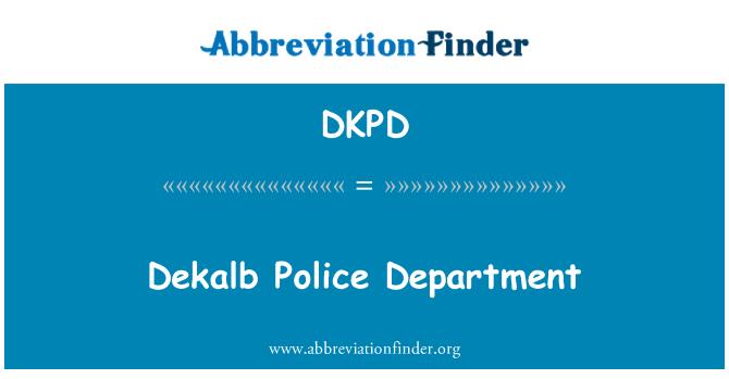 DKPD: Dekalb Police Department