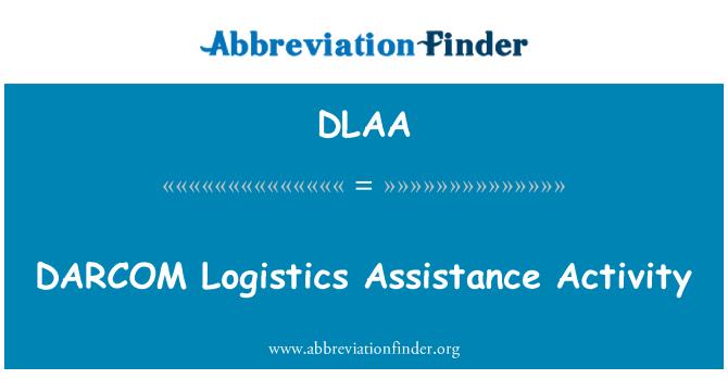 DLAA: DARCOM 物流援助活动
