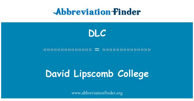 DLC: David Lipscomb College