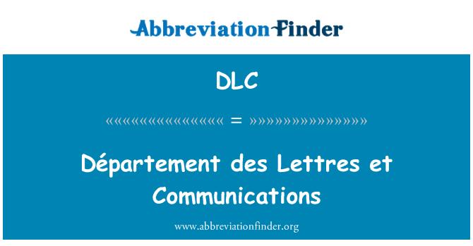 DLC: Département des Lettres et Communications
