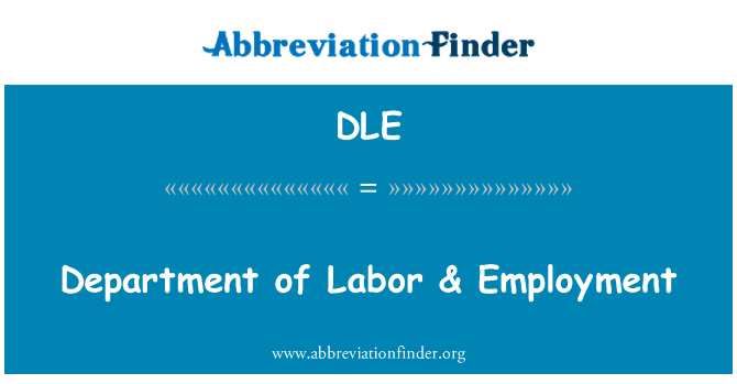 DLE: Department of Labor & Employment
