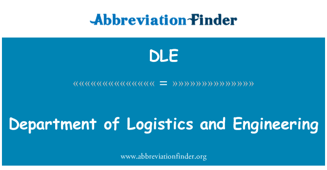 DLE: Department of Logistics and Engineering