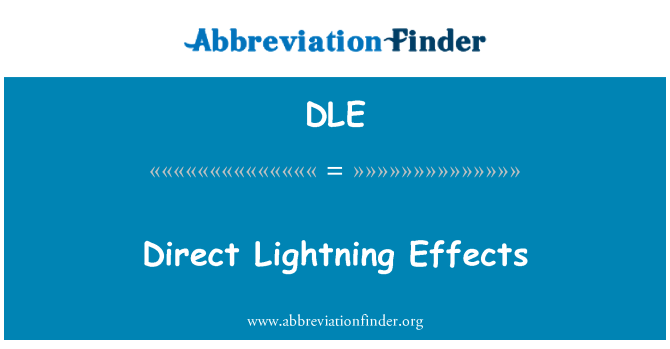 DLE: Direct Lightning Effects