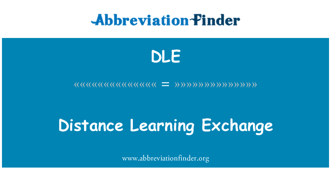 DLE: Distance Learning Exchange