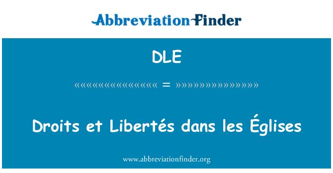 DLE: Droits et Libertés dans les Églises