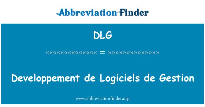 DLG: Developpement de Logiciels de Gestion