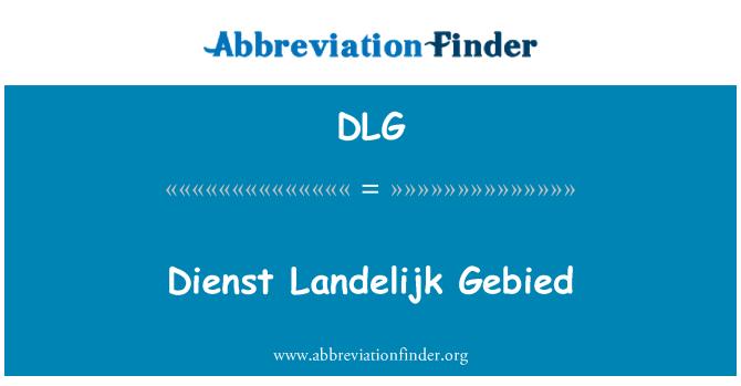 DLG: Dienst Landelijk Gebied