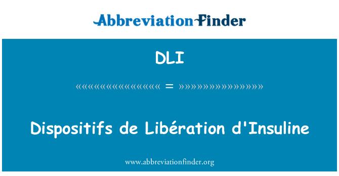 DLI: Dispositifs de Libération d'Insuline