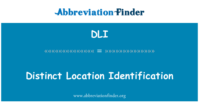 DLI: Distinct Location Identification
