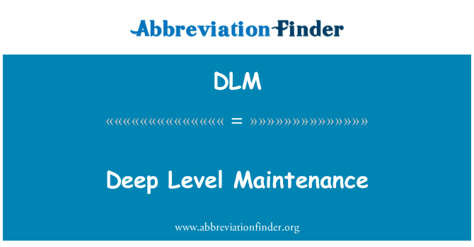 DLM: Deep Level Maintenance