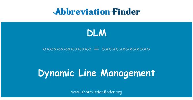 DLM: Dynamic Line Management