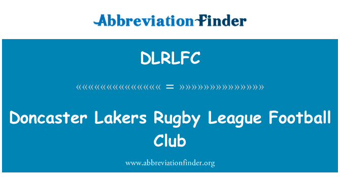 DLRLFC: Doncaster Lakers Rugby League Football Club