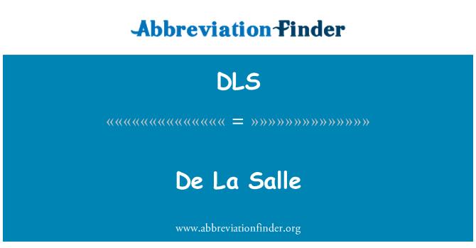 DLS: De La Salle