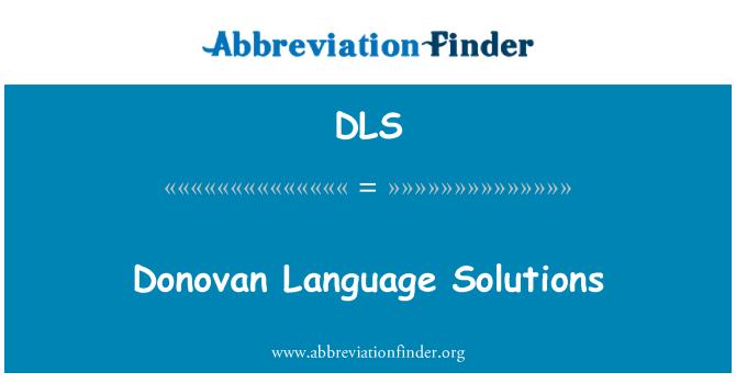DLS: Donovan Language Solutions