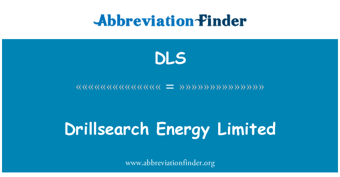 DLS: Drillsearch Energy Limited
