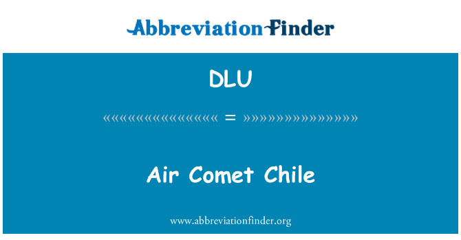 DLU: Air Comet Chile