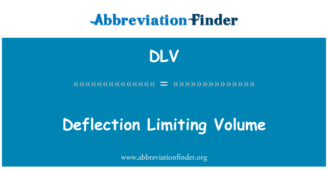DLV: Deflection Limiting Volume