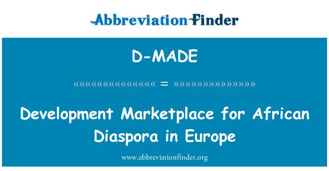 D-MADE: Feria del desarrollo para la diáspora africana en Europa