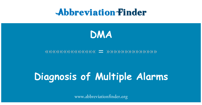 DMA: Diagnosis of Multiple Alarms