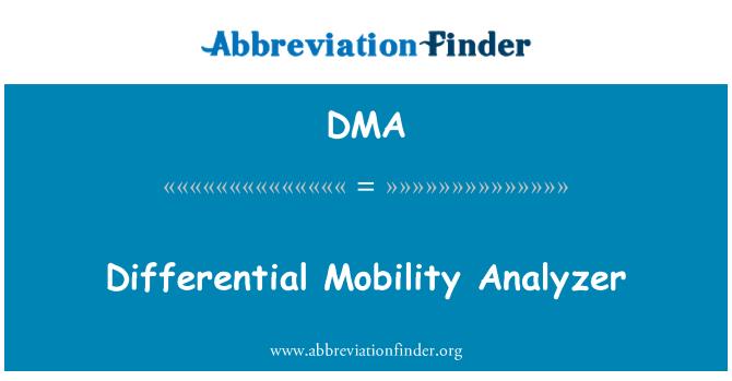 DMA: Differential Mobility Analyzer