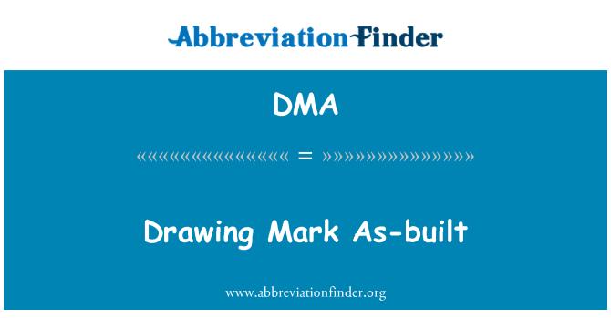 DMA: Drawing Mark As-built