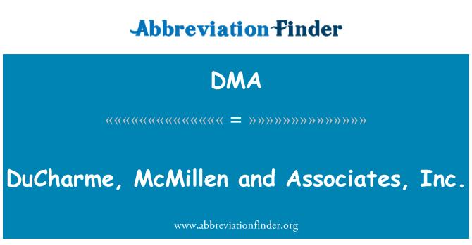 DMA: DuCharme, McMillen and Associates, Inc.