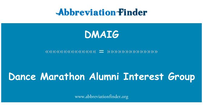 DMAIG: Grupo de baile maratón Alumni interés