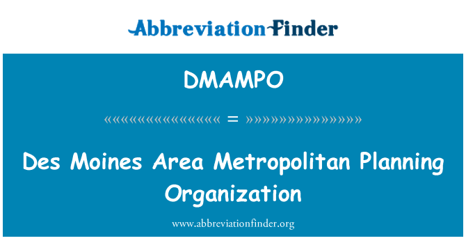 DMAMPO: Des Moines Area Metropolitan Planning Organization