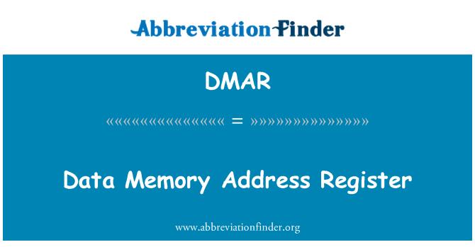 DMAR: Veri bellek adres kayıt