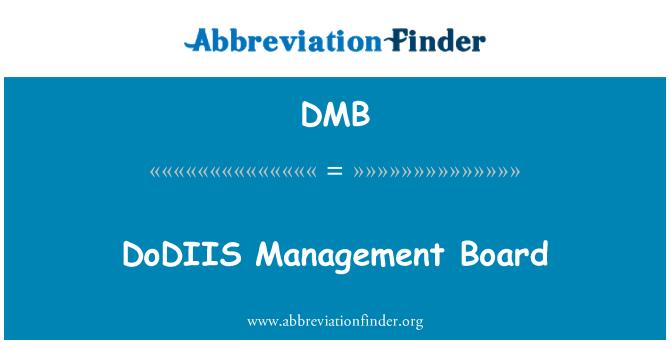 DMB: DoDIIS Management Board