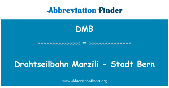 DMB: Drahtseilbahn Marzili - Stadt Bern