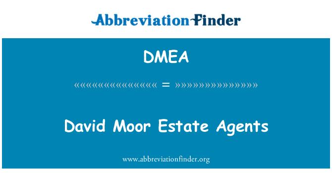DMEA: David Moor kinnisvaramaaklerite