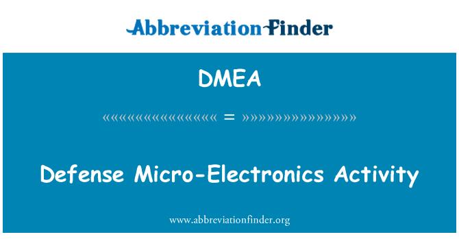 DMEA: Riigikaitse Mikroelektroonika tegevus
