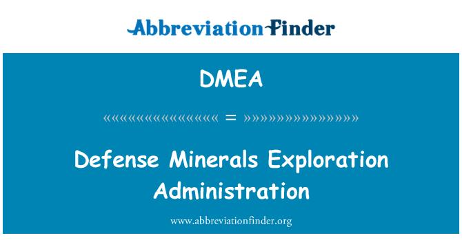 DMEA: Riigikaitse mineraalide uurimise haldamine