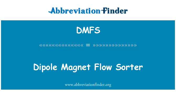 DMFS: Dipolo imán flujo Sorter