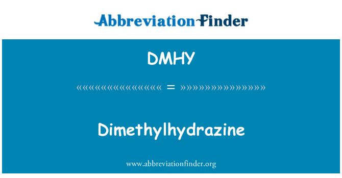 DMHY: Dimetüülhüdrasiini summa