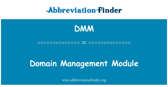 DMM: Domain Management Module