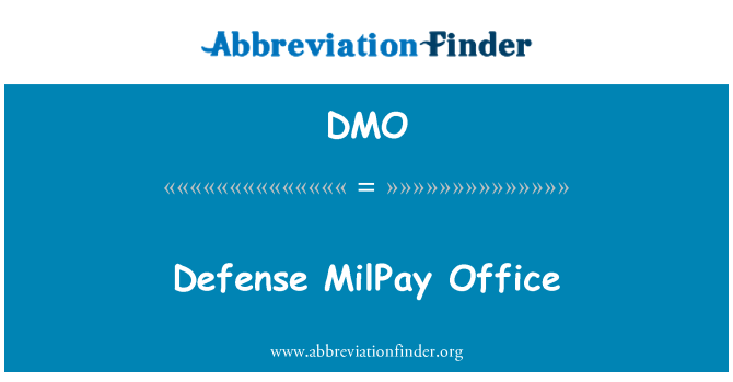 DMO: Defense MilPay Office