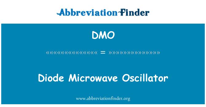 DMO: Diode Microwave Oscillator