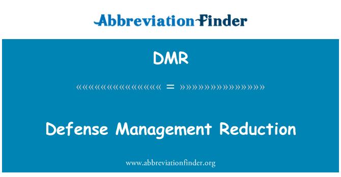 DMR: Defense Management Reduction
