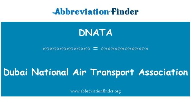 DNATA: Asociación del transporte aéreo nacional Dubai