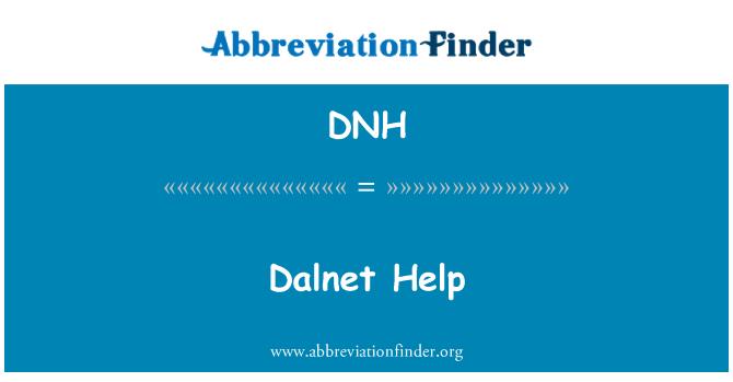 DNH: Dalnet Help