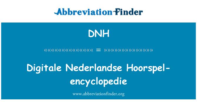 DNH: Digitale Nederlandse Hoorspel-encyclopedie