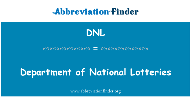 DNL: Department of National Lotteries