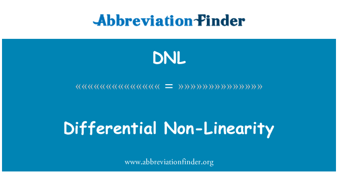 DNL: Differential Non-Linearity