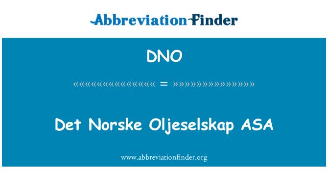 DNO: Det Norske Oljeselskap ASA