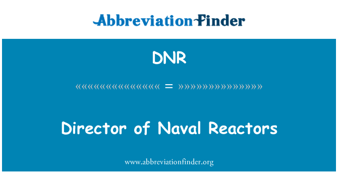 DNR: Director of Naval Reactors